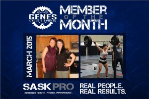Congrats Crystal!  We are amazingly proud of Crystal K, our Gene's -  March Member of the month.   She is always bring a great attitude, effort and passion to the gym. Keep up the Amazing work, Crystal!!