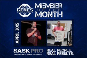 Congrats Kelly T!  We are amazingly proud of Kelly T, our Gene's -  April Member of the month.   Kelly brings an amazing attitude, demeanour and just overall awesomeness to the gym daily! Thanks for being you, Kelly!